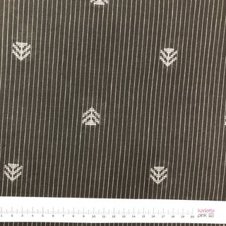Indischer Jacquardstoffwhite arrows on chocolat stripes