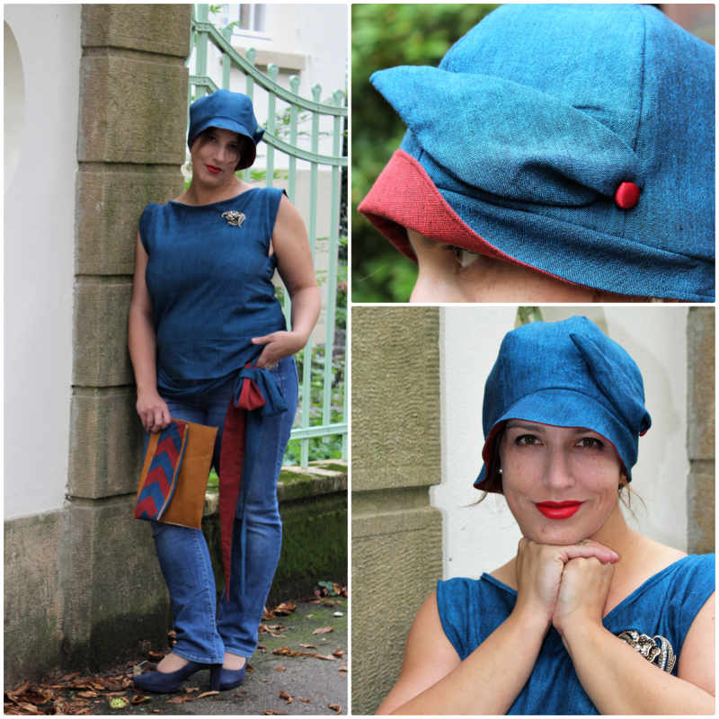 Fine Fabric mit blauem Handloom Stoff
