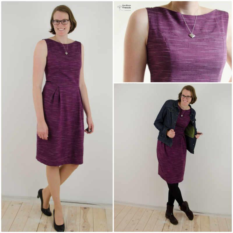 Kleid aus lila Handloom Stoff