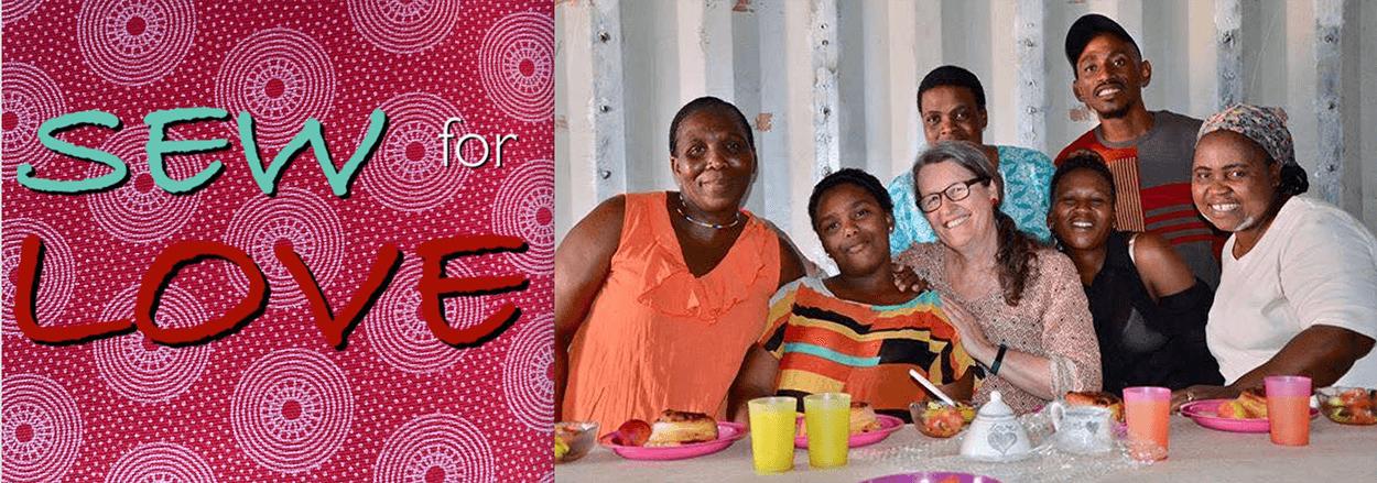 Wohltätigkeitsprojekt Nähen in Afrika sew for love