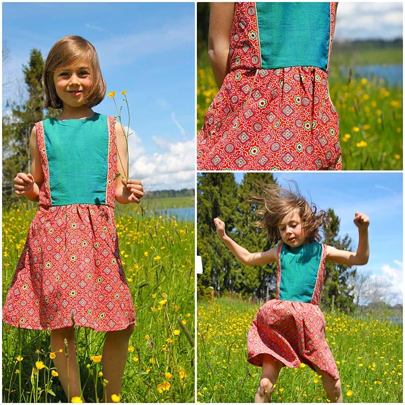 Kinderkleid indischer Blockprint Stoff