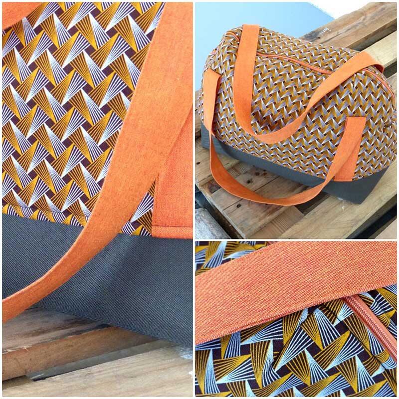 Tasche afrikanischer shweshwe und indischer handloom