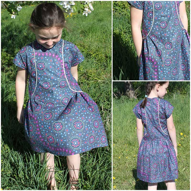 Kleid aus australischem Aborigine Stoff