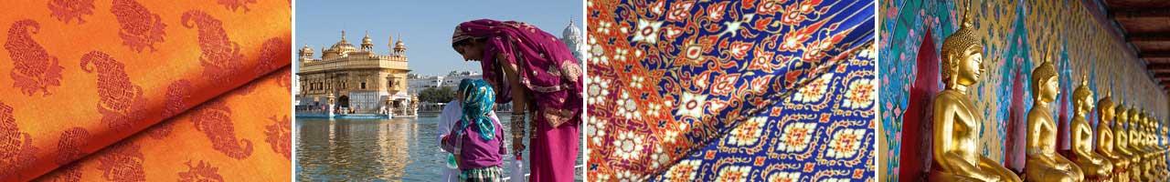 orientalische stoffe brokat und sarong