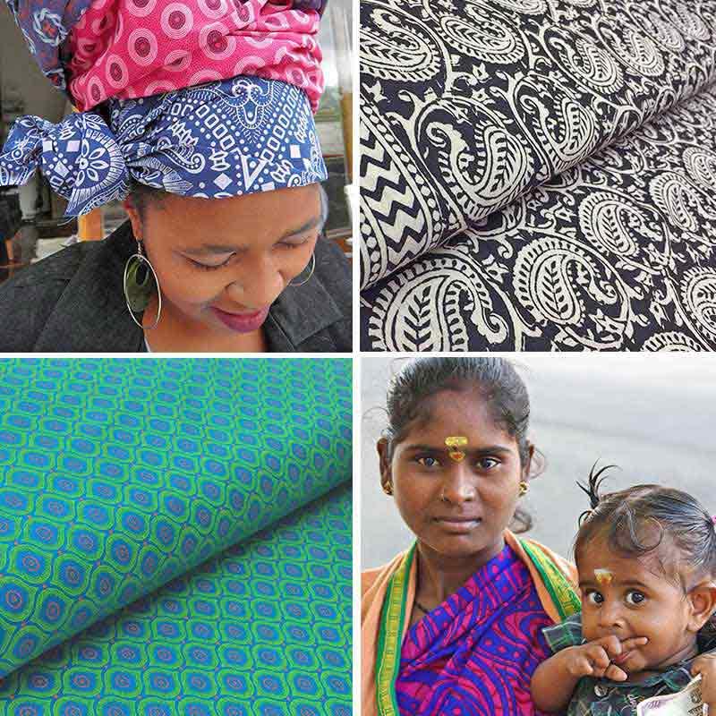 Grosse Auswahl an nachhaltigen Ethnostoffen aus Afrika, Indien, Australien
