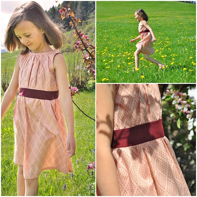 Kleid aus indischen Bioblockprint und Handloom Stoff