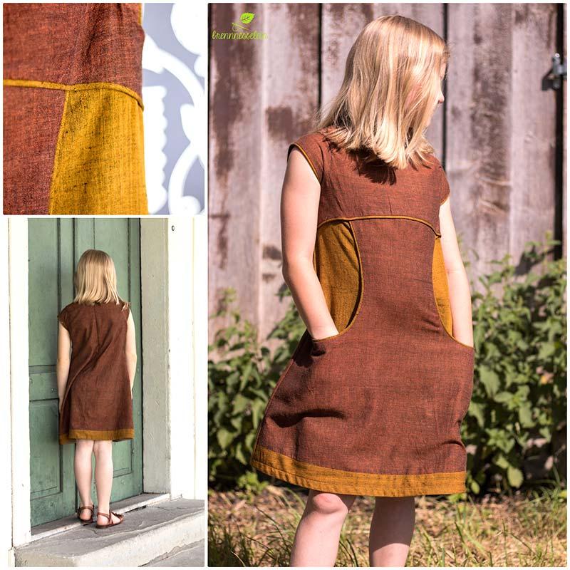 Kleid indischer Handloom Baumwollstoff Miss Polly