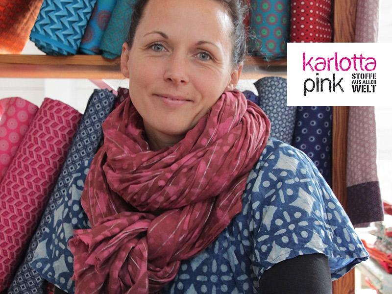 Ines Weizenegger ist die Inhaberin des Stoffladens Karlotta Pink - Stoffe aus aller Welt