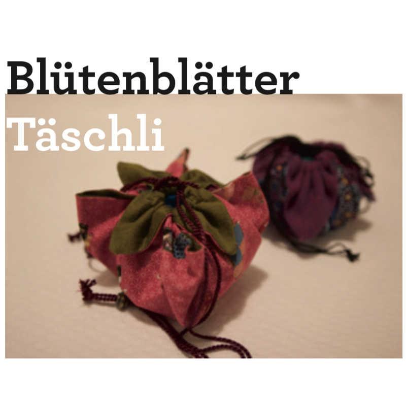 kleine Tasche mit Blütenblätter Beutel zum Zuziehen